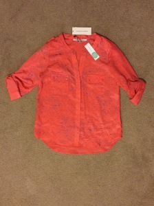 Collective Concepts Rilo Button-up Blouse Coral